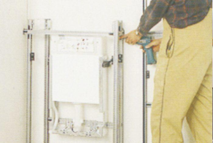 WC – Baustein bei der Rohmontage