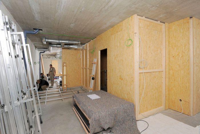 Aluunterbau-Boden für bb Duschen und teilmontierte Holz- Trockenbauwände