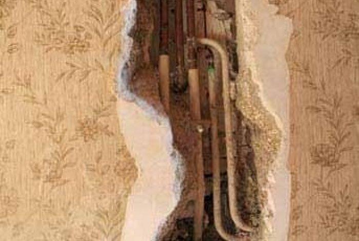 Problemstellung feuchte Wand im Treppenhaus