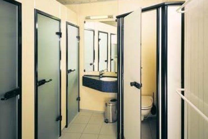 Etagenduschanlagen mit Waschtisch und WC
