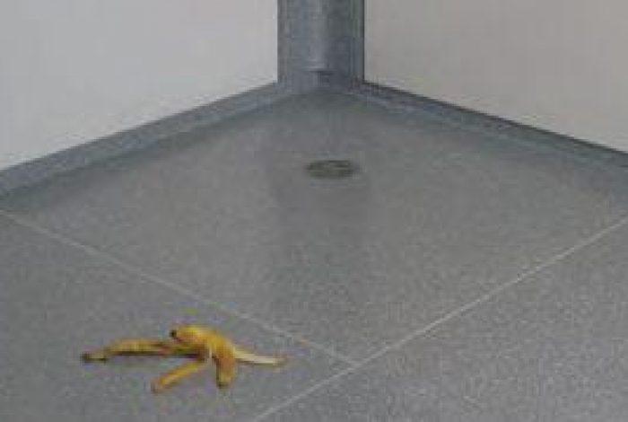 Beispiel Rutschfestigkeit in Dusch und Bodenflächen